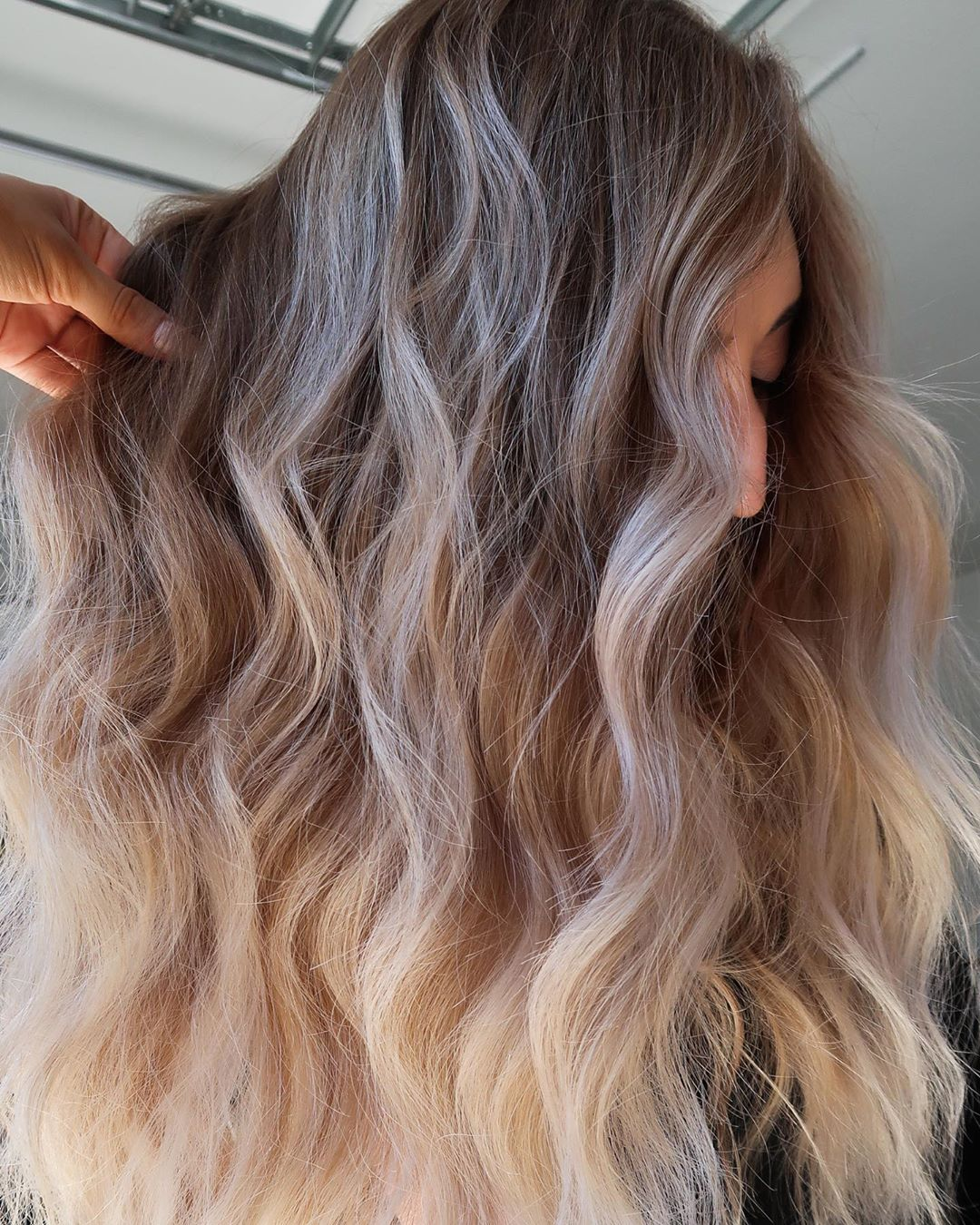 Toasted Coconut Balayage Fall Hair Idea