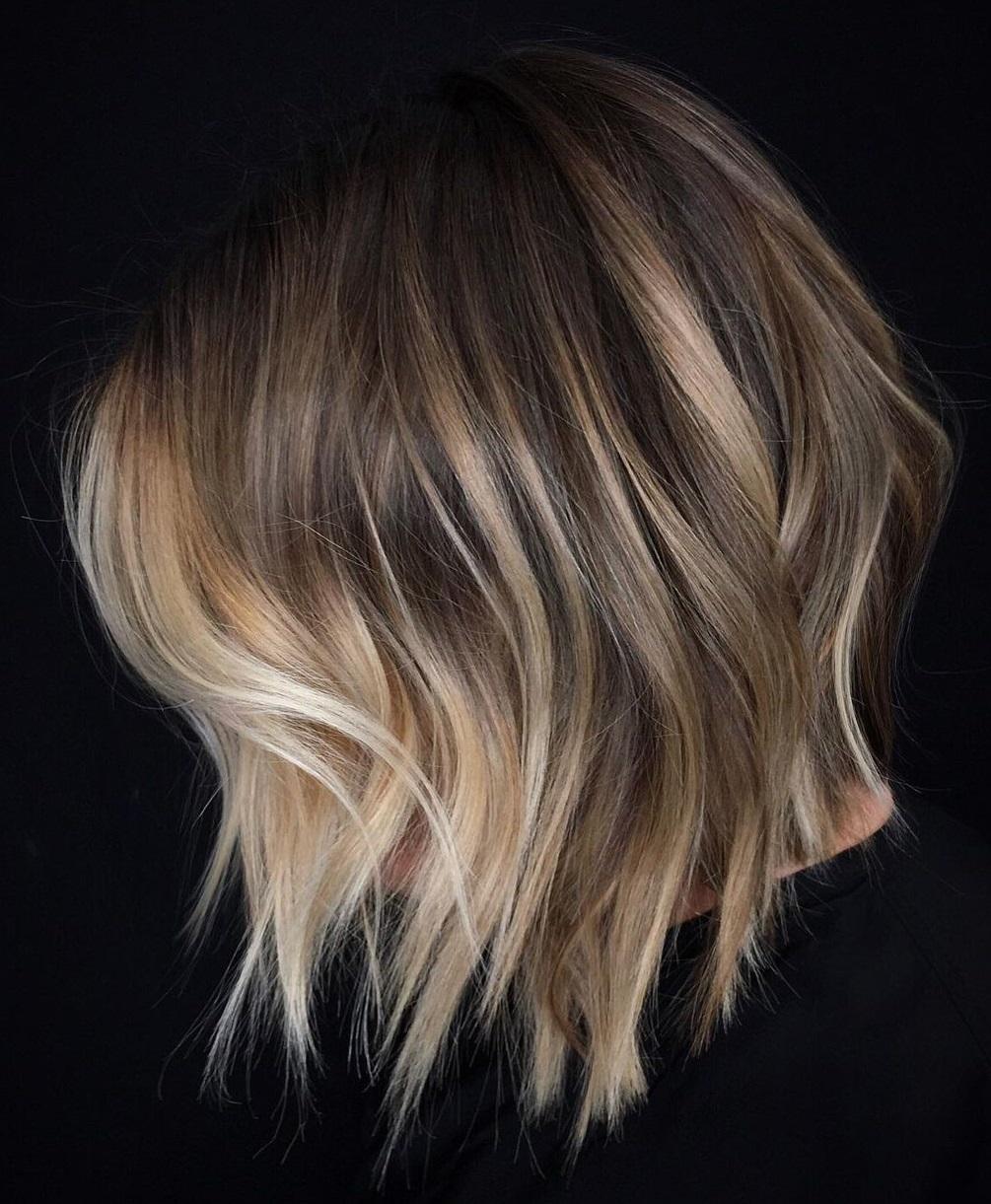 Short Choppy Hair with Face-Framing Balayage