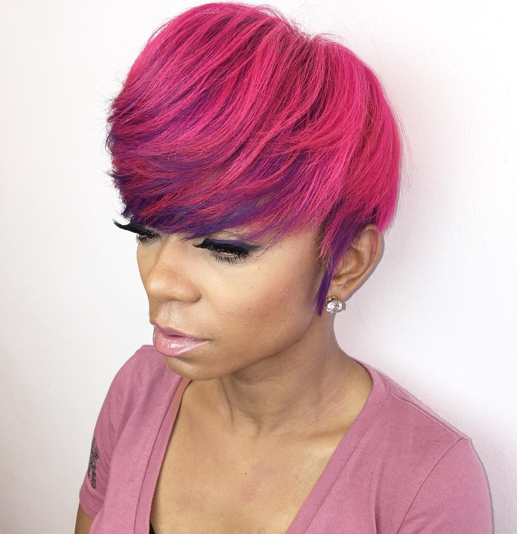 Bright Pink Hair for Light Brown Skin