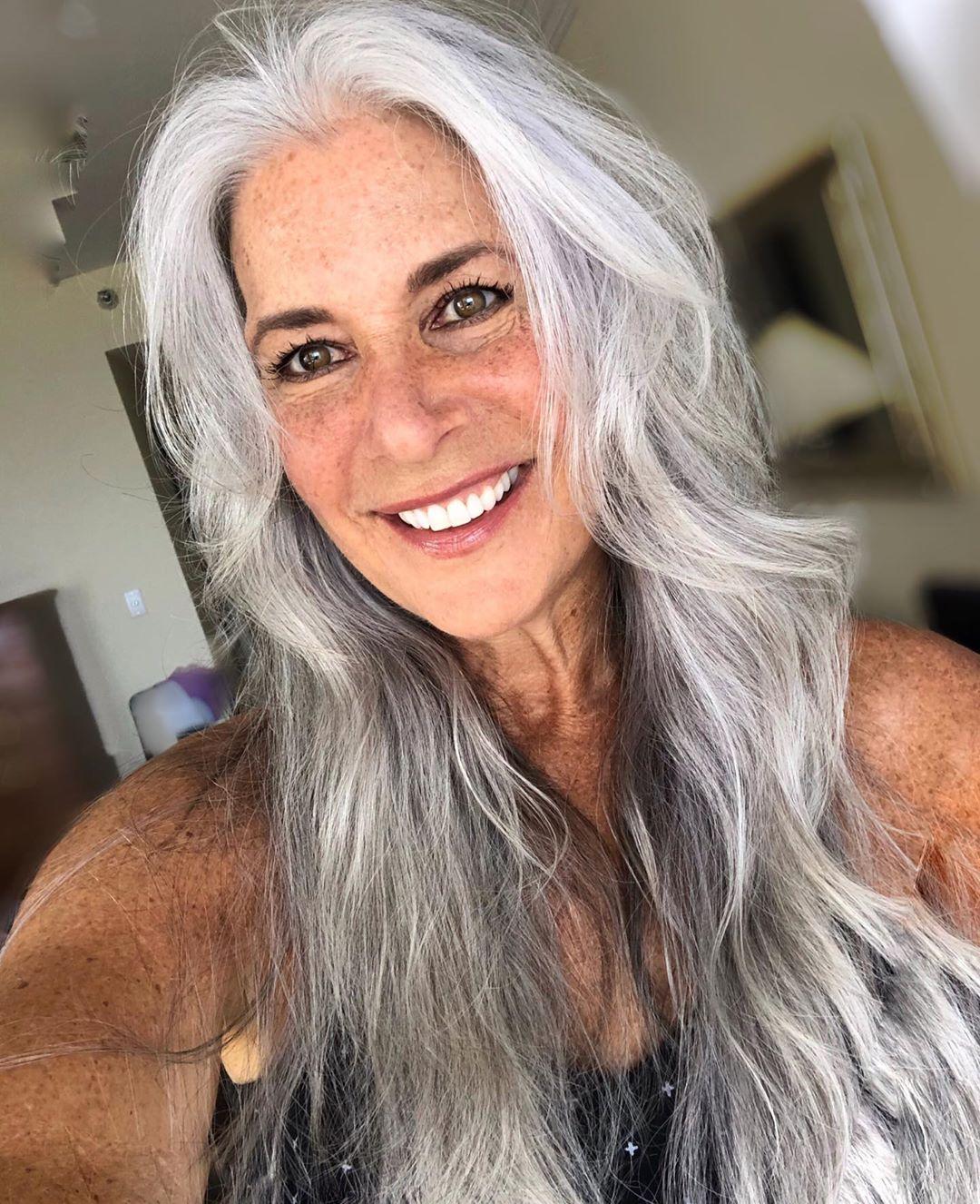 Long Gray Silver Hair