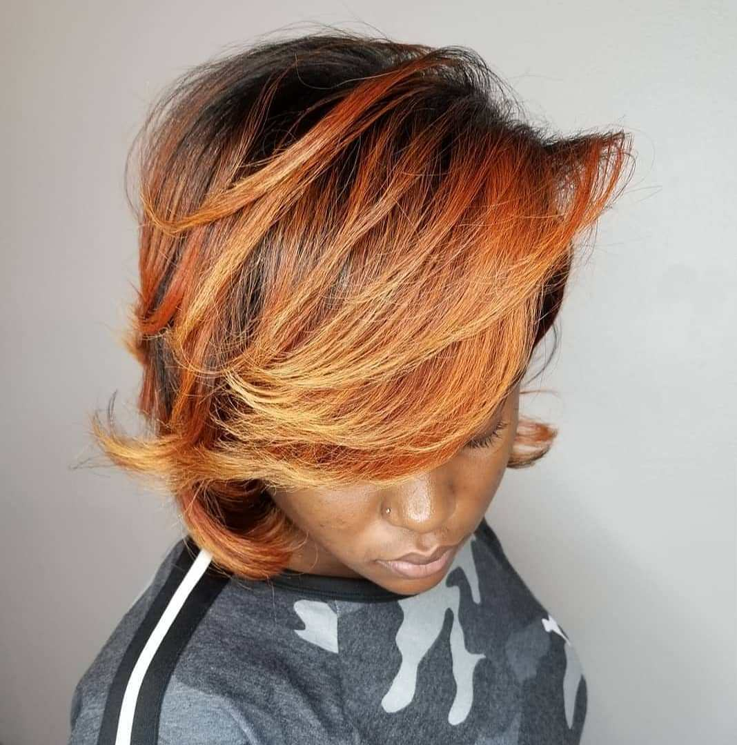 Copper and Strawberry Blonde Hair for Black Women