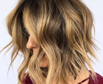 Shaggy Bob with Metallic Blonde Balayage