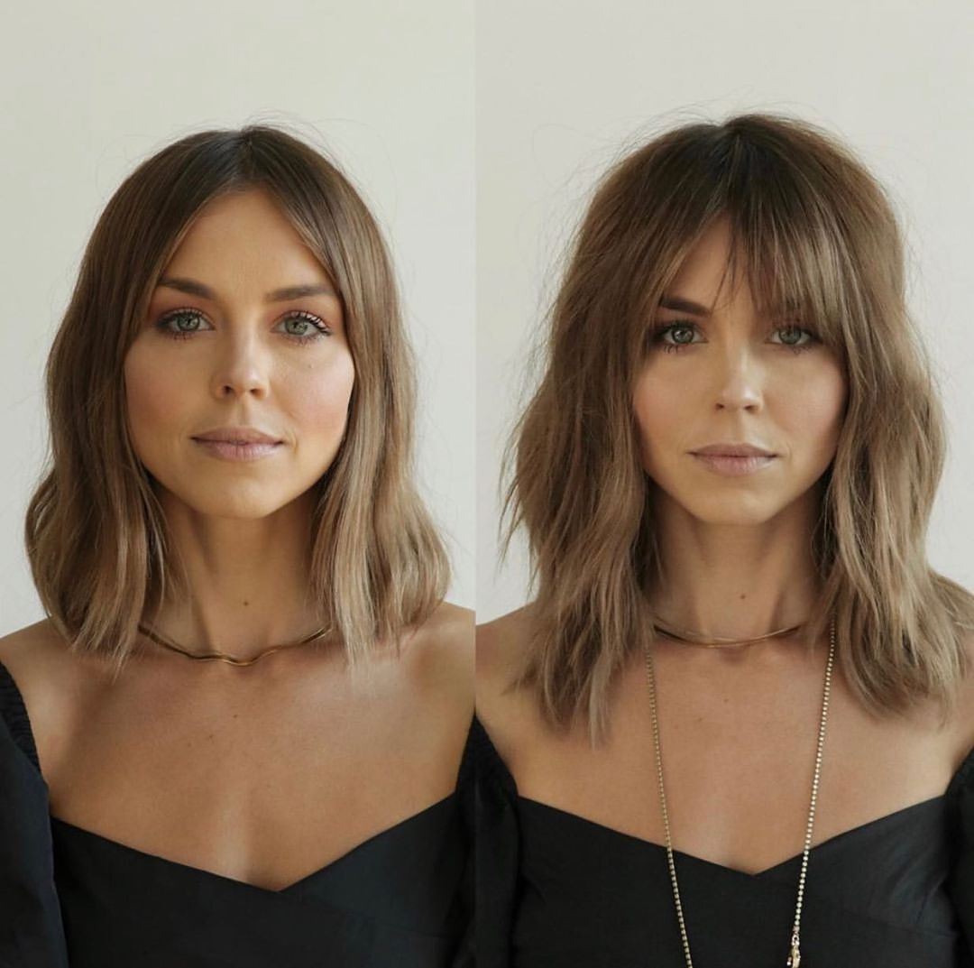 Medium Wavy Hairstyle for a Round Face