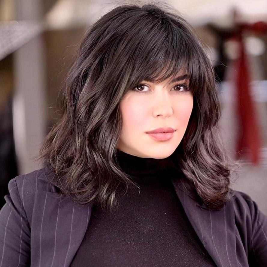 Medium-Length Haircut for Thick Hair