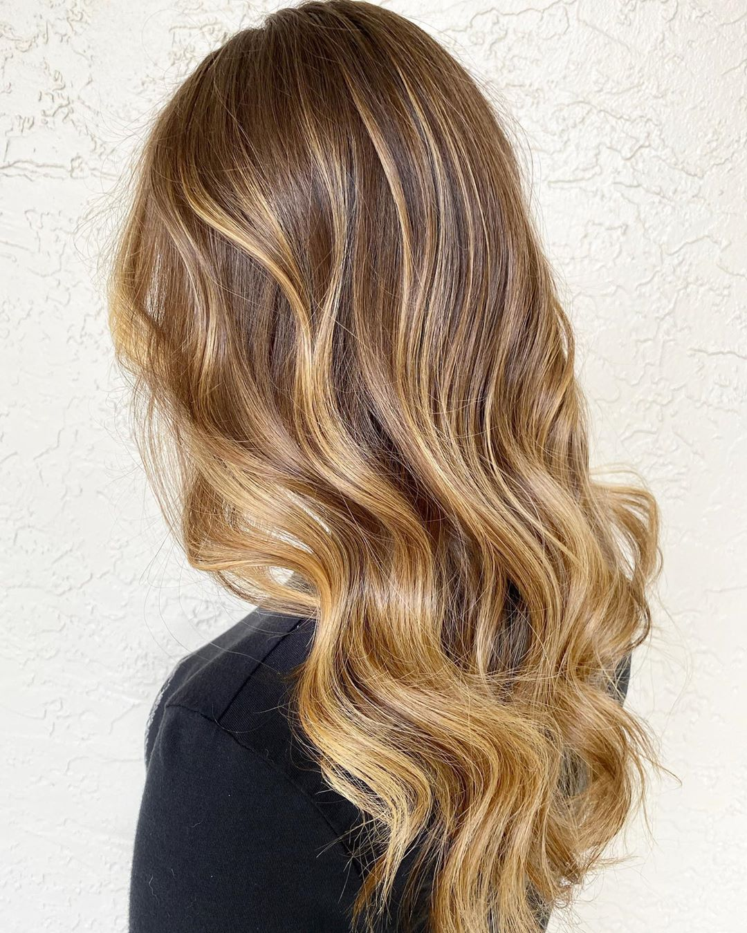 Golden Caramel Hair Color