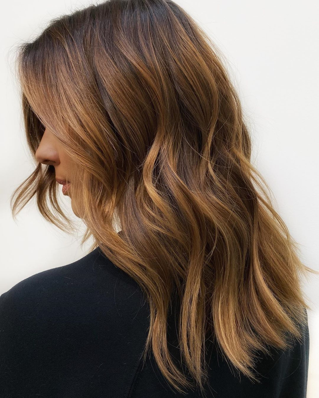 Subtle Caramel Highlights for Brown Hair