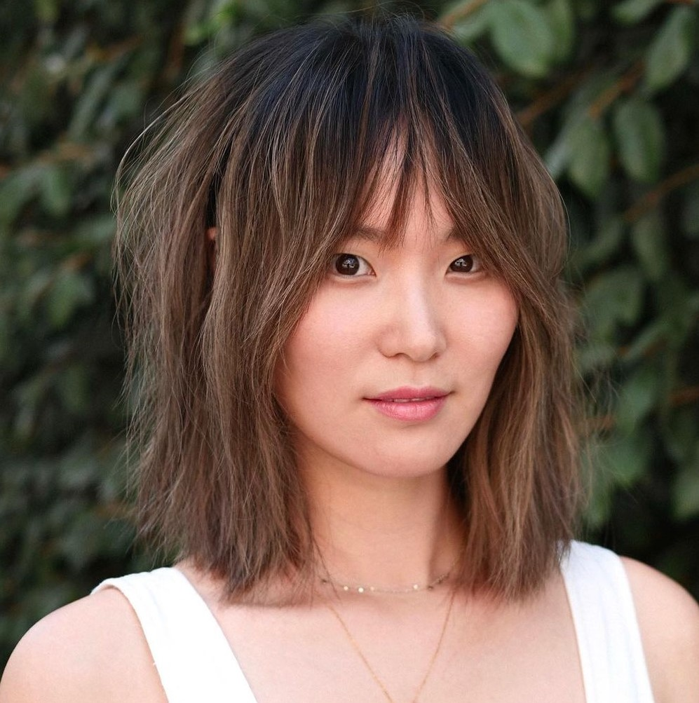 Above-the-Shoulders Shaggy Hair with Bangs