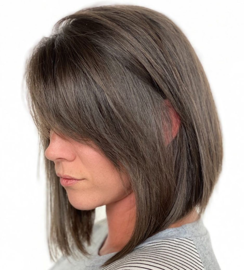 Inverted Bob with Feathered Bangs