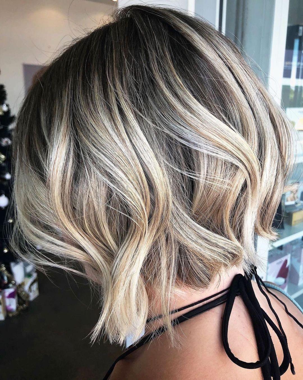 Short Hair Balayage and Root Fade
