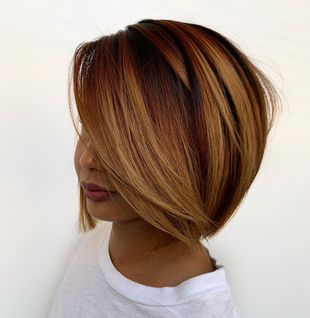 Voluminous Balayage Bob