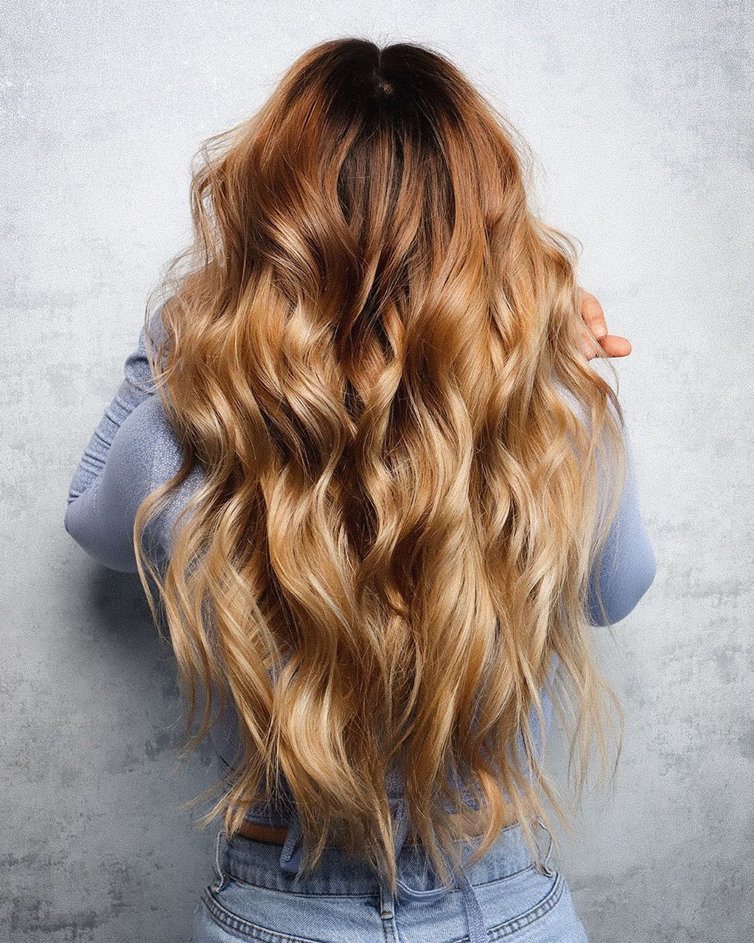 Long Caramel to Blonde Ombre Hair