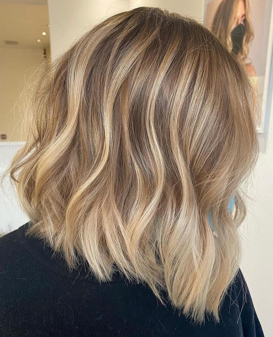 Blonde Balayage Idea for Short Hair