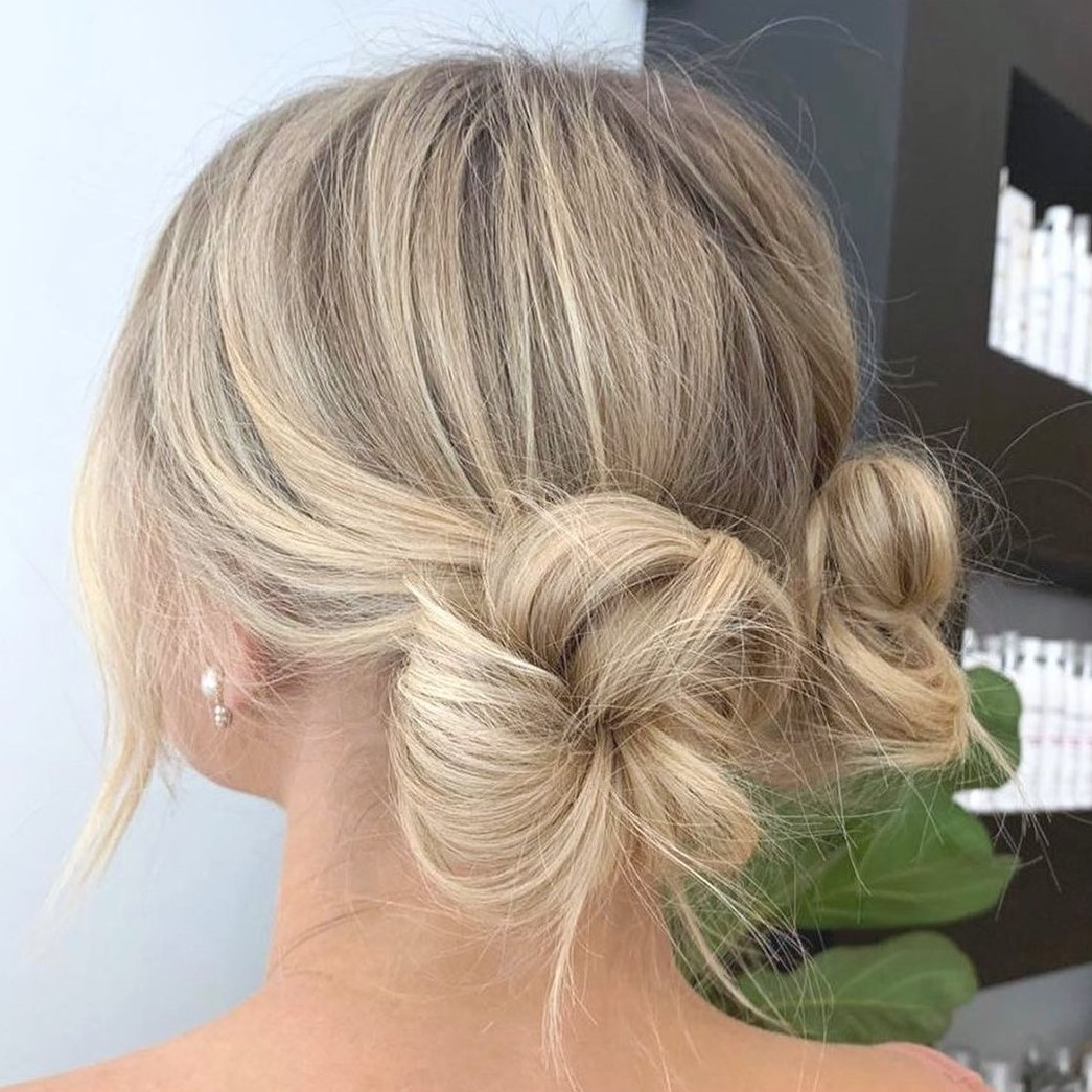 Two Cute Low Buns for Long Hair