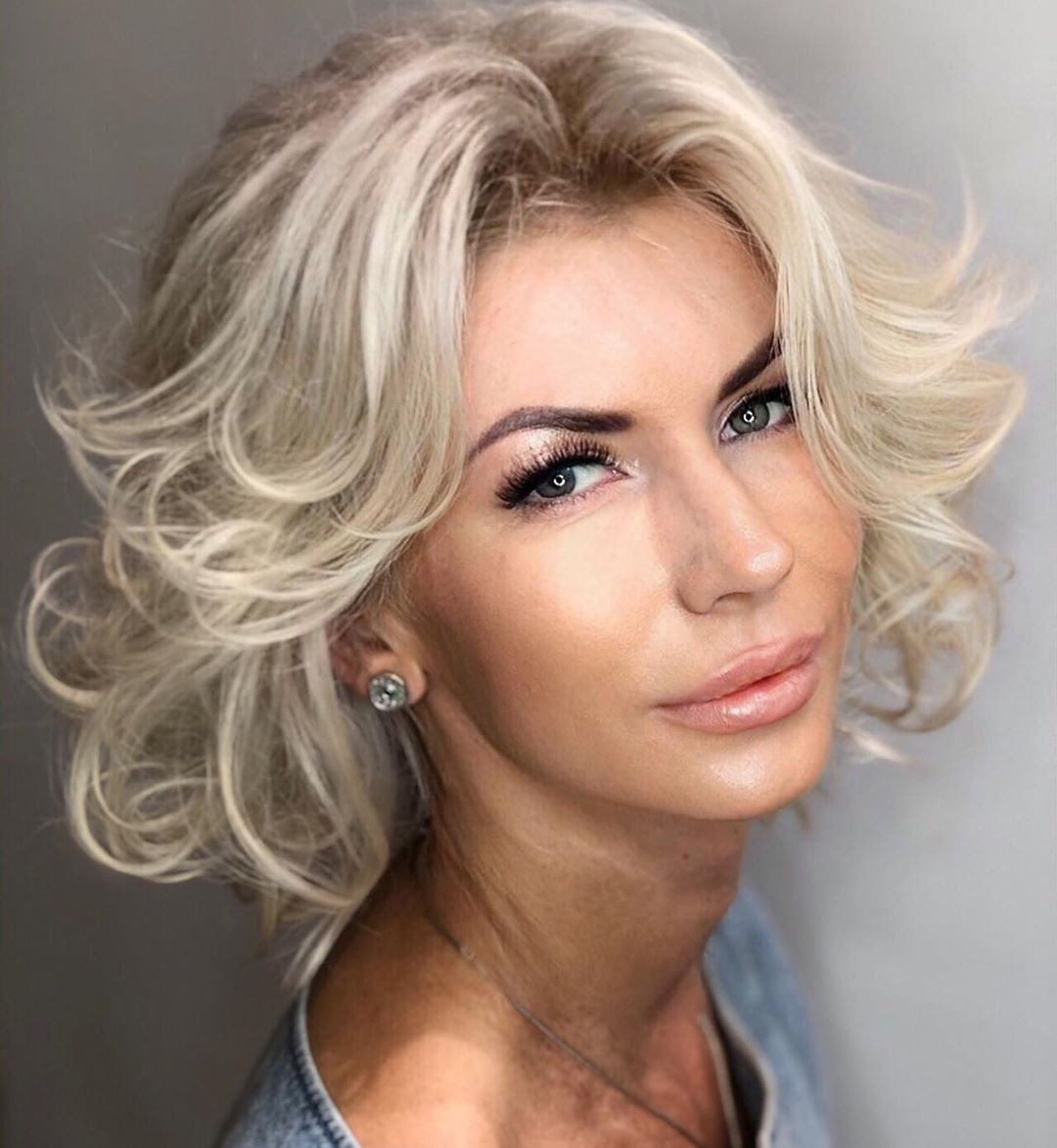 Platinum Blonde Medium Length Hair