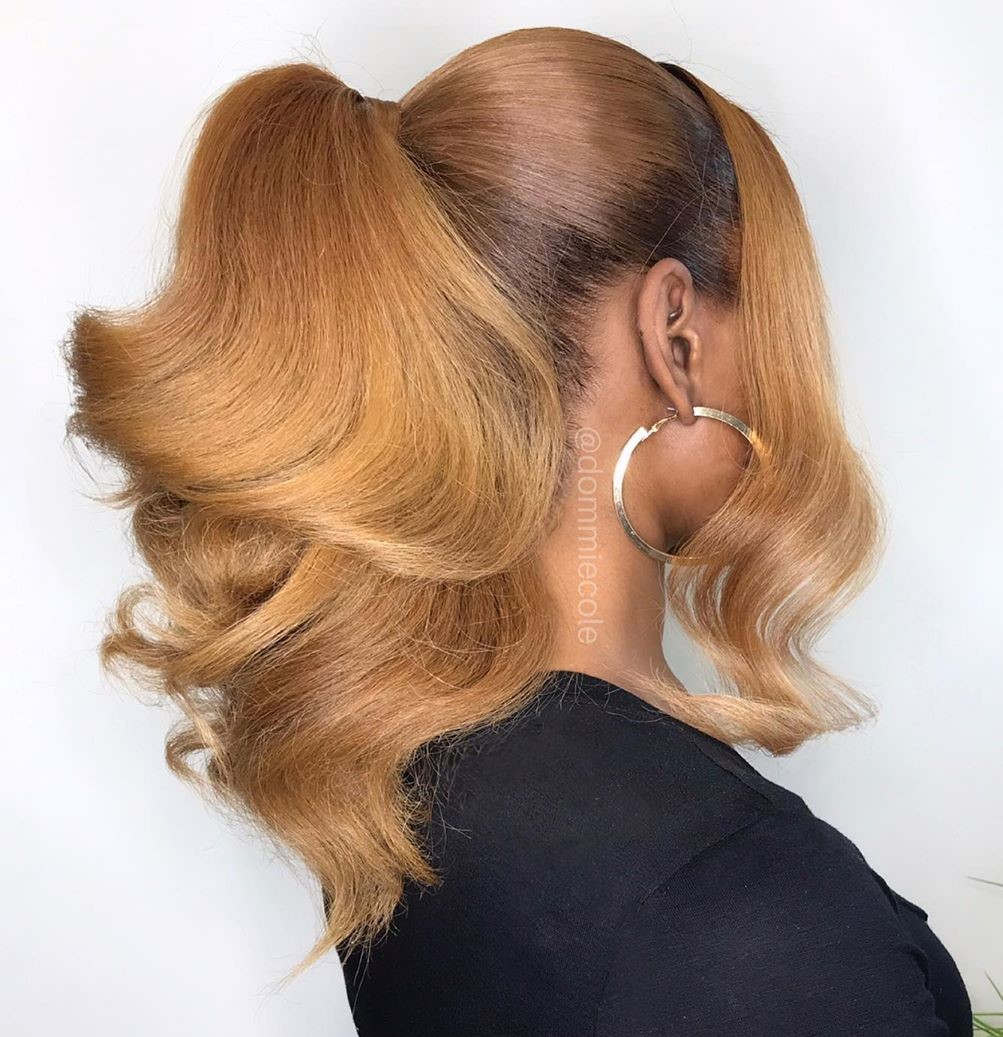 Ponytail for Straightened Natural Hair