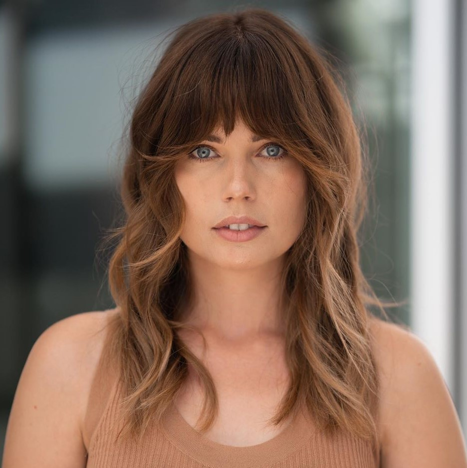 Brunette Hairstyle with Bangs