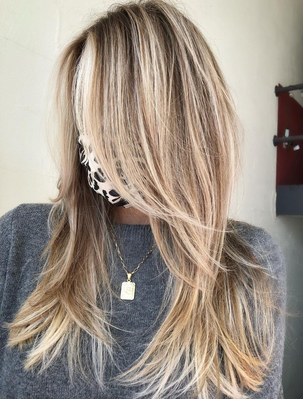 Long Hairstyle with Long Bangs