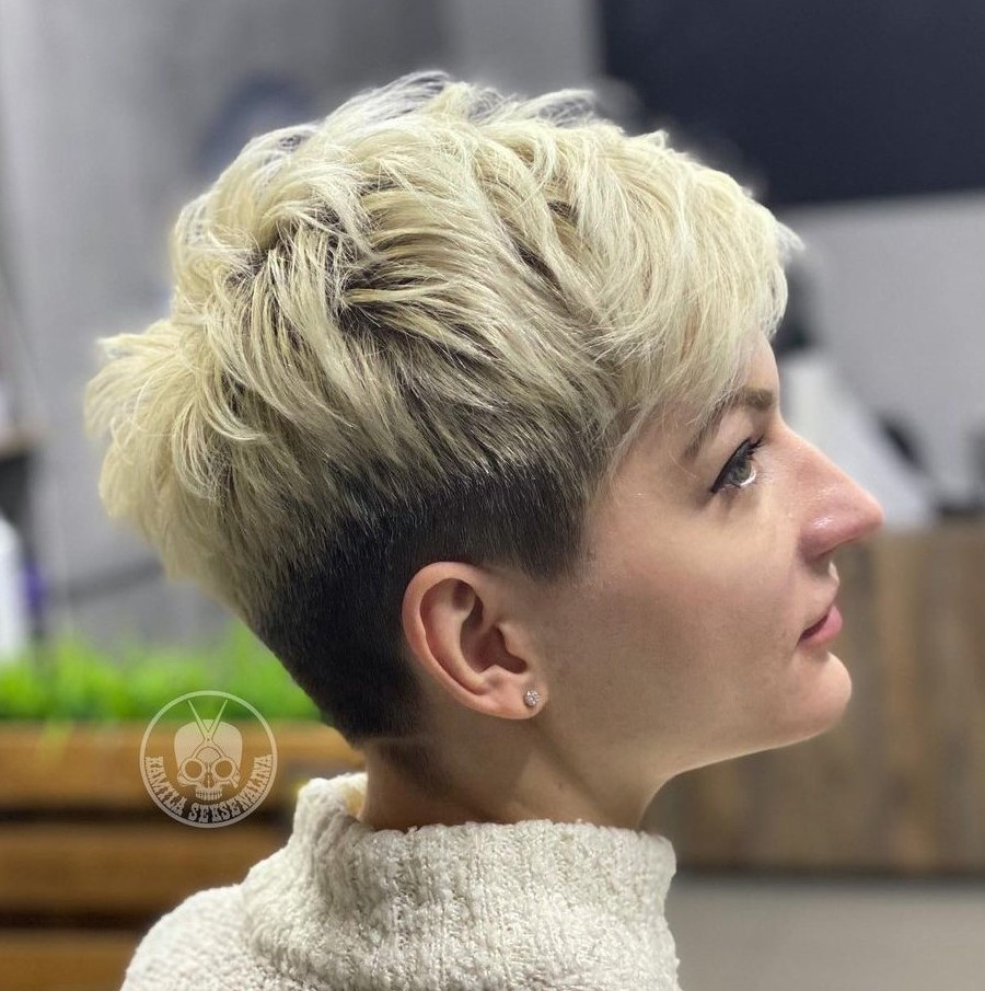 Blonde Undercut Pixie