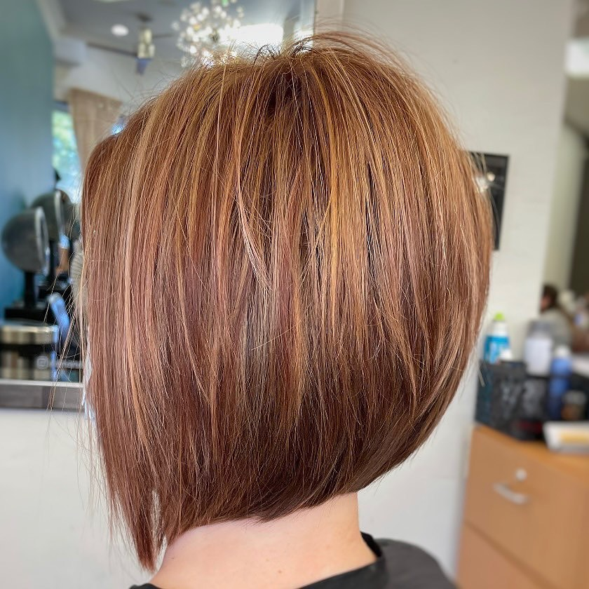 Tousled Inverted Bob with Layers
