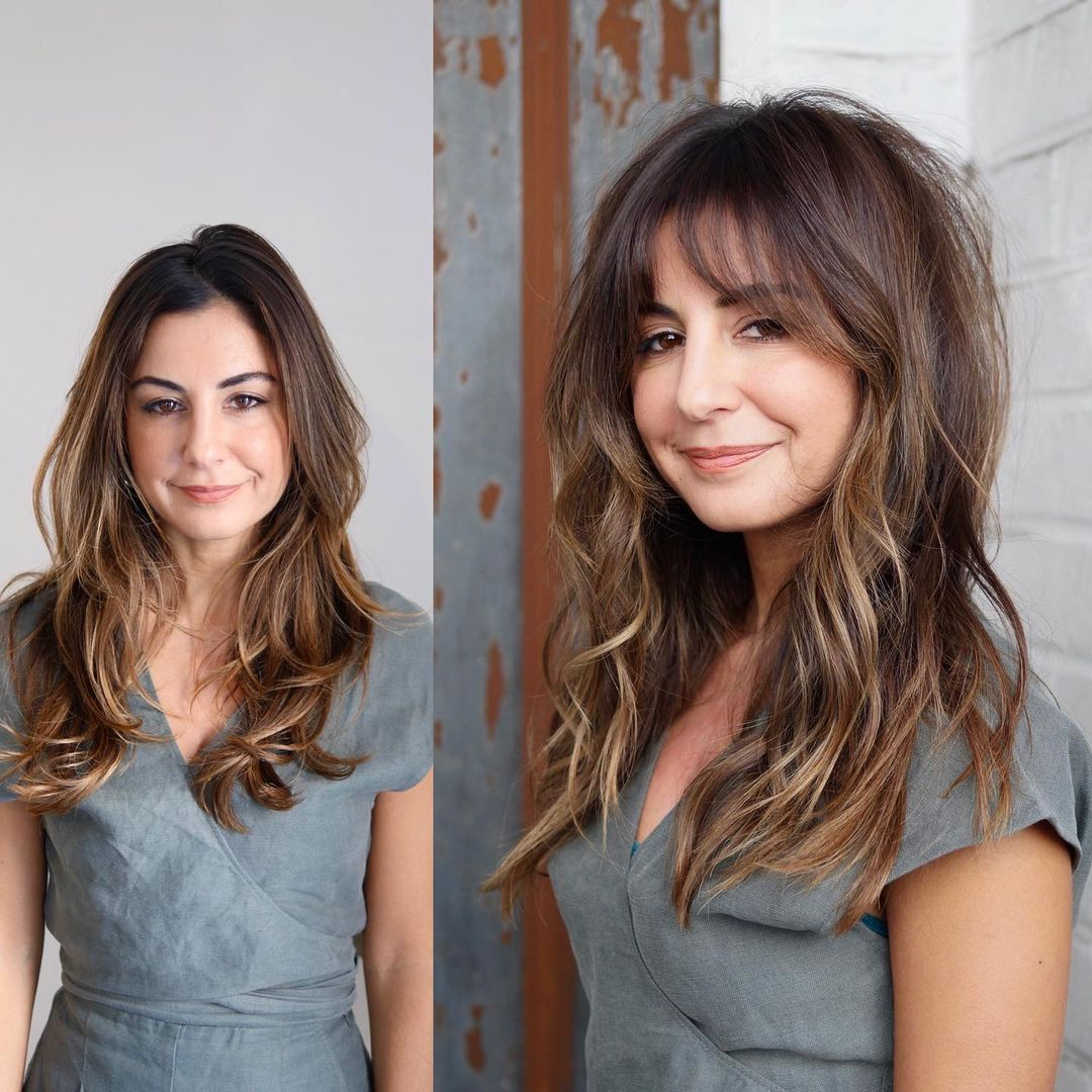 Long Shaggy Hair with Side Bangs