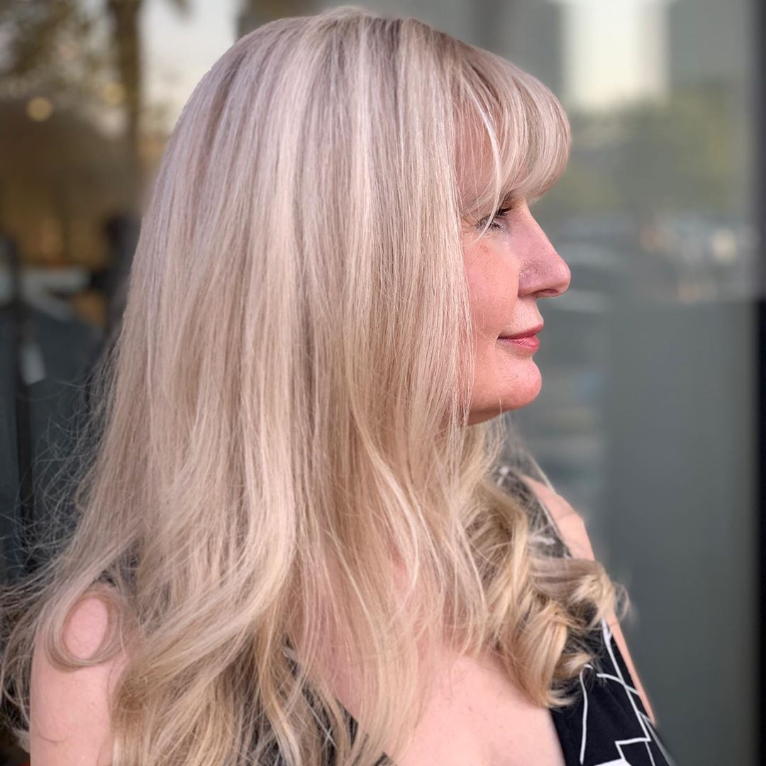 Long hairstyle for older Women with Thick Hair