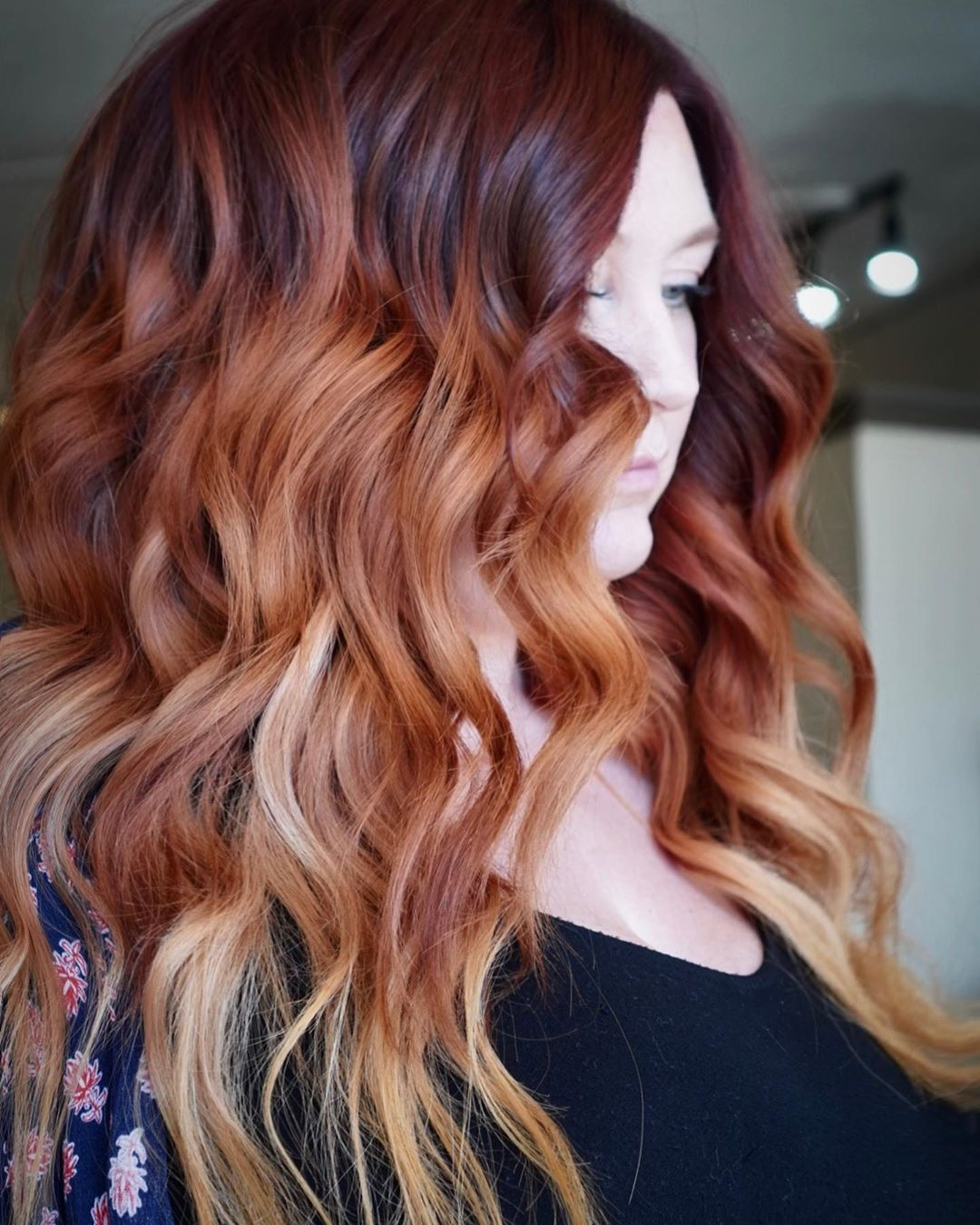 Hair Color for Double Chins
