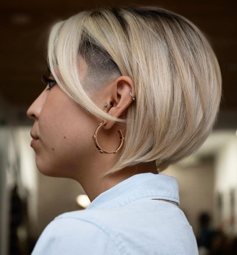 Bob Cut with Shaved Sides