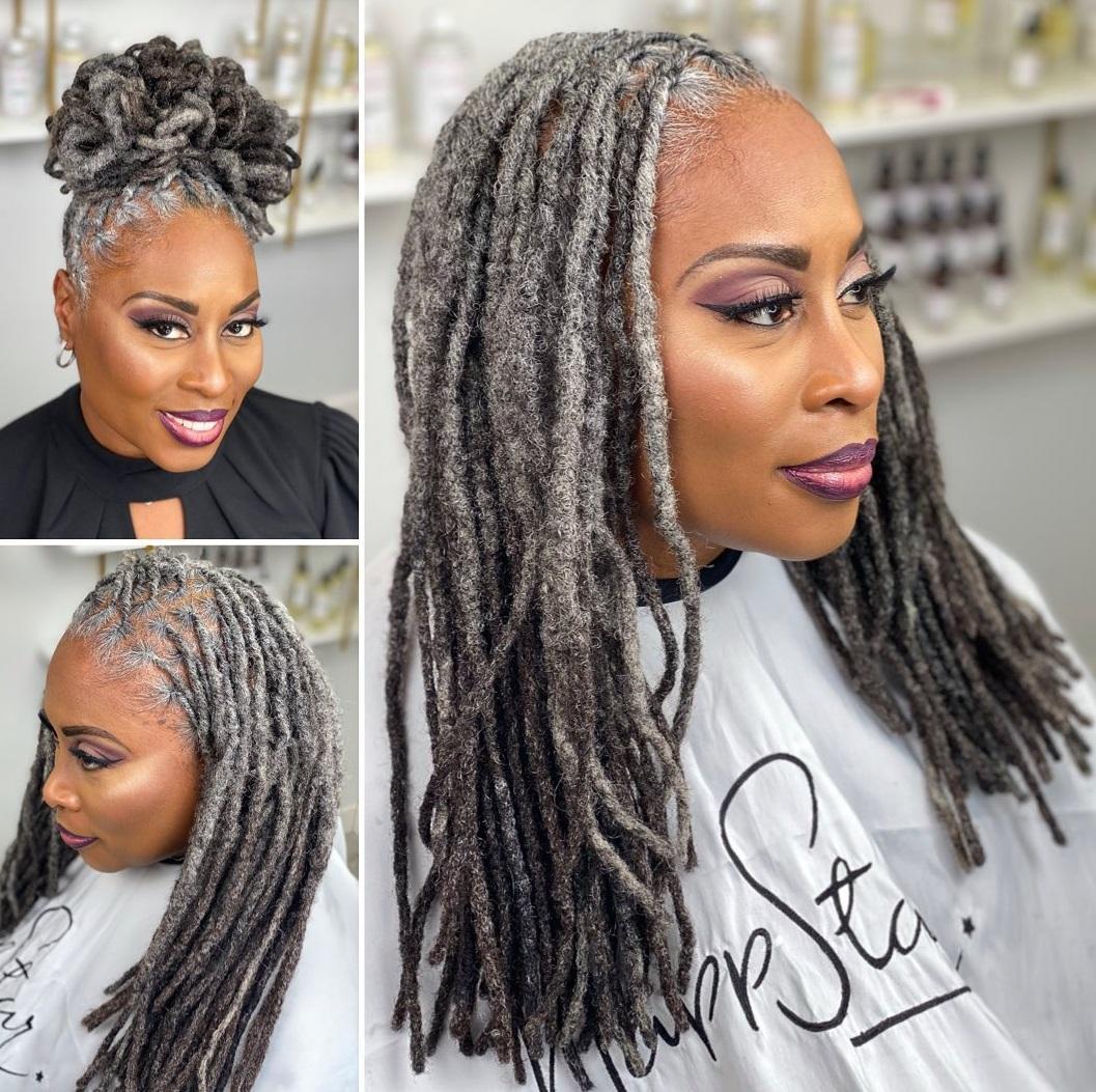 Grayish Dreadlocks Hairstyle