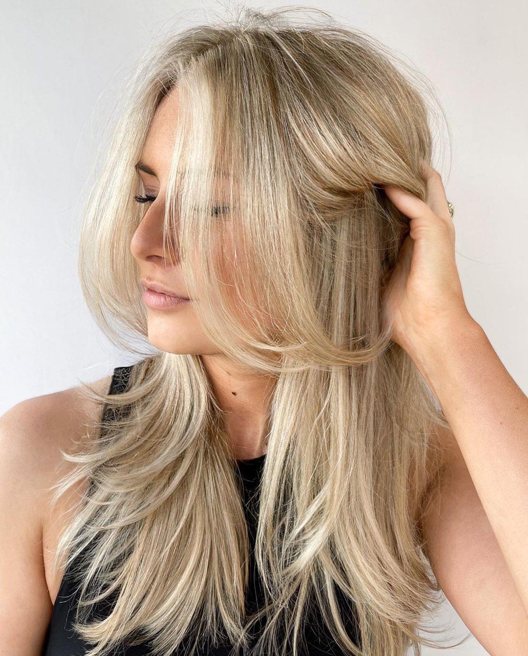 Feminine Long Layered Haircut