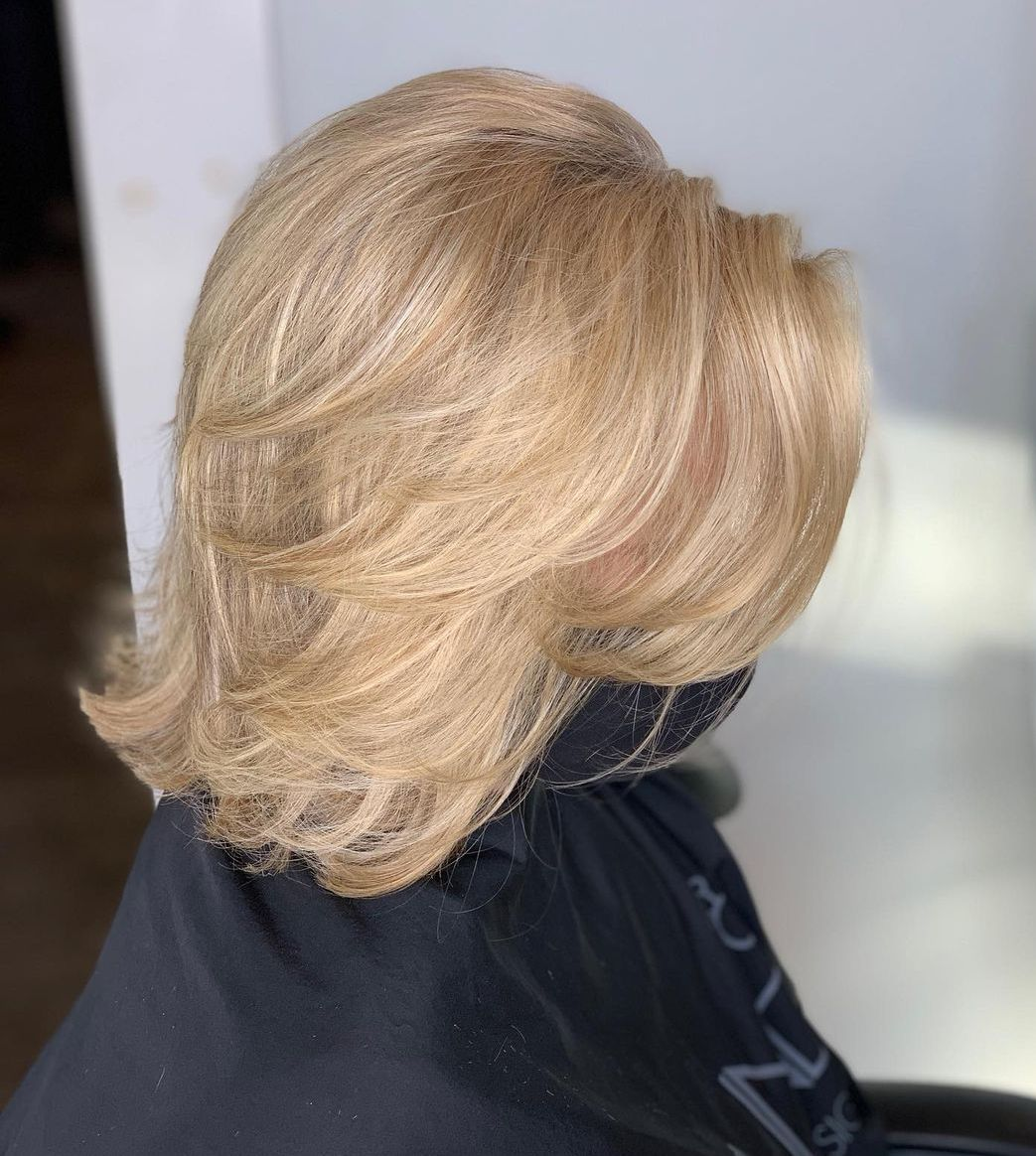 Medium-Length Lob with Swoopy Layers