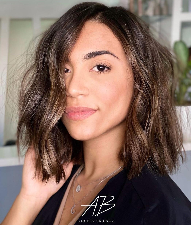 Shoulder-Length Choppy Cut for Thin Hair