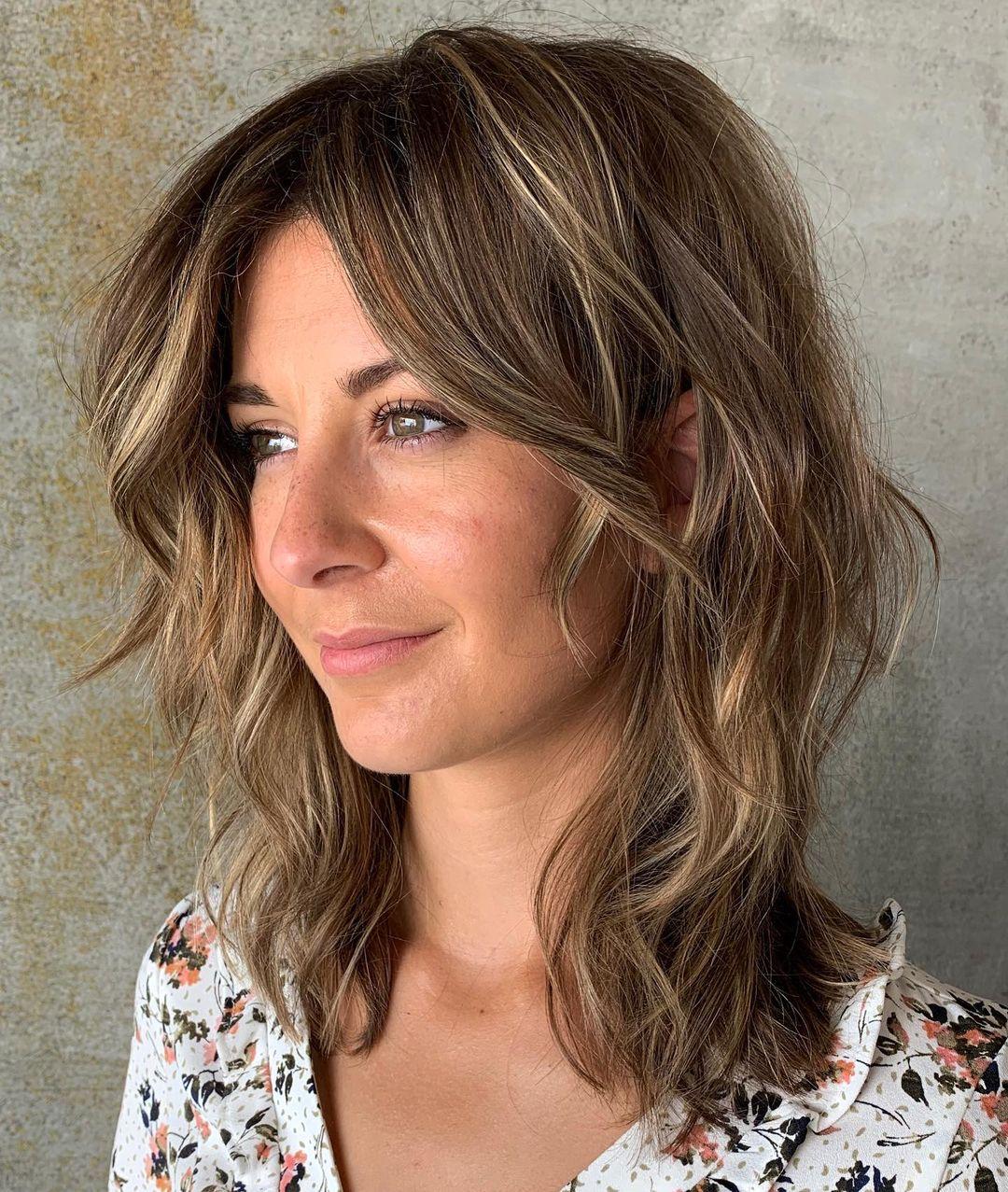 Messy Cut for Medium-Length Hair