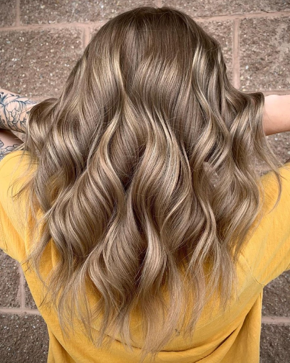 Ash Blonde Hair with Golden Highlights