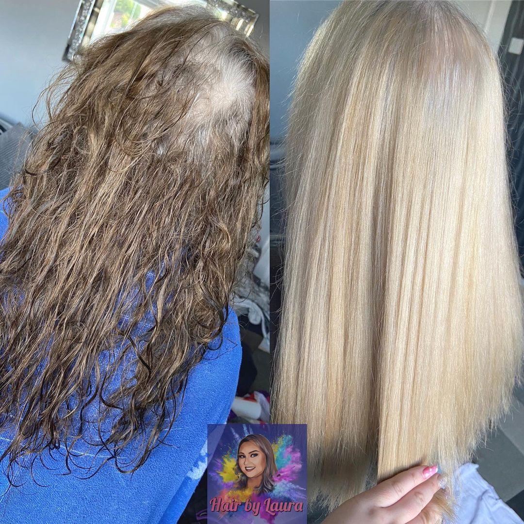 Bleach Bath for Gray Hair Transition