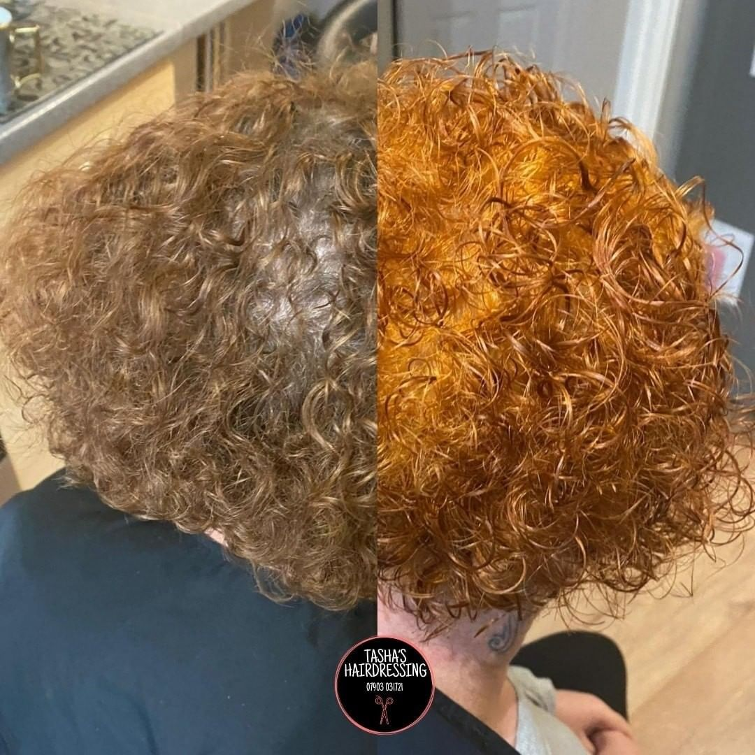 Bleach Bath for Red Hair Color and Curly Hair