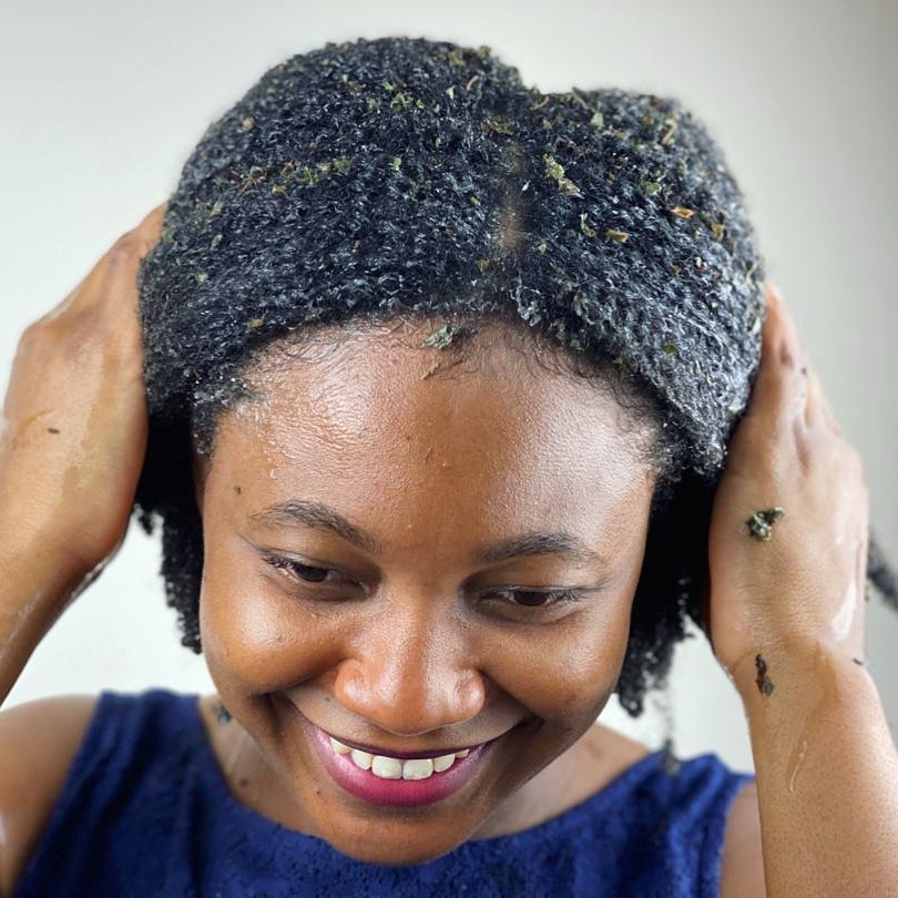 Natural Shampoo DIY for Black Curly Thick Hair