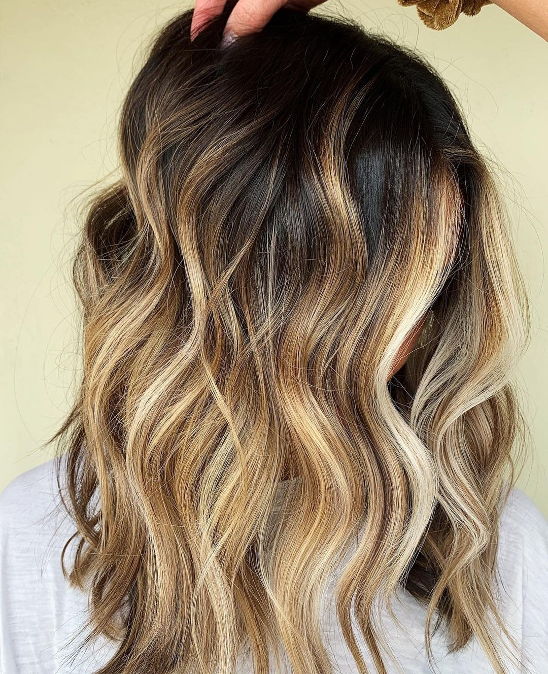 Honey Blonde Hair with Dark Roots
