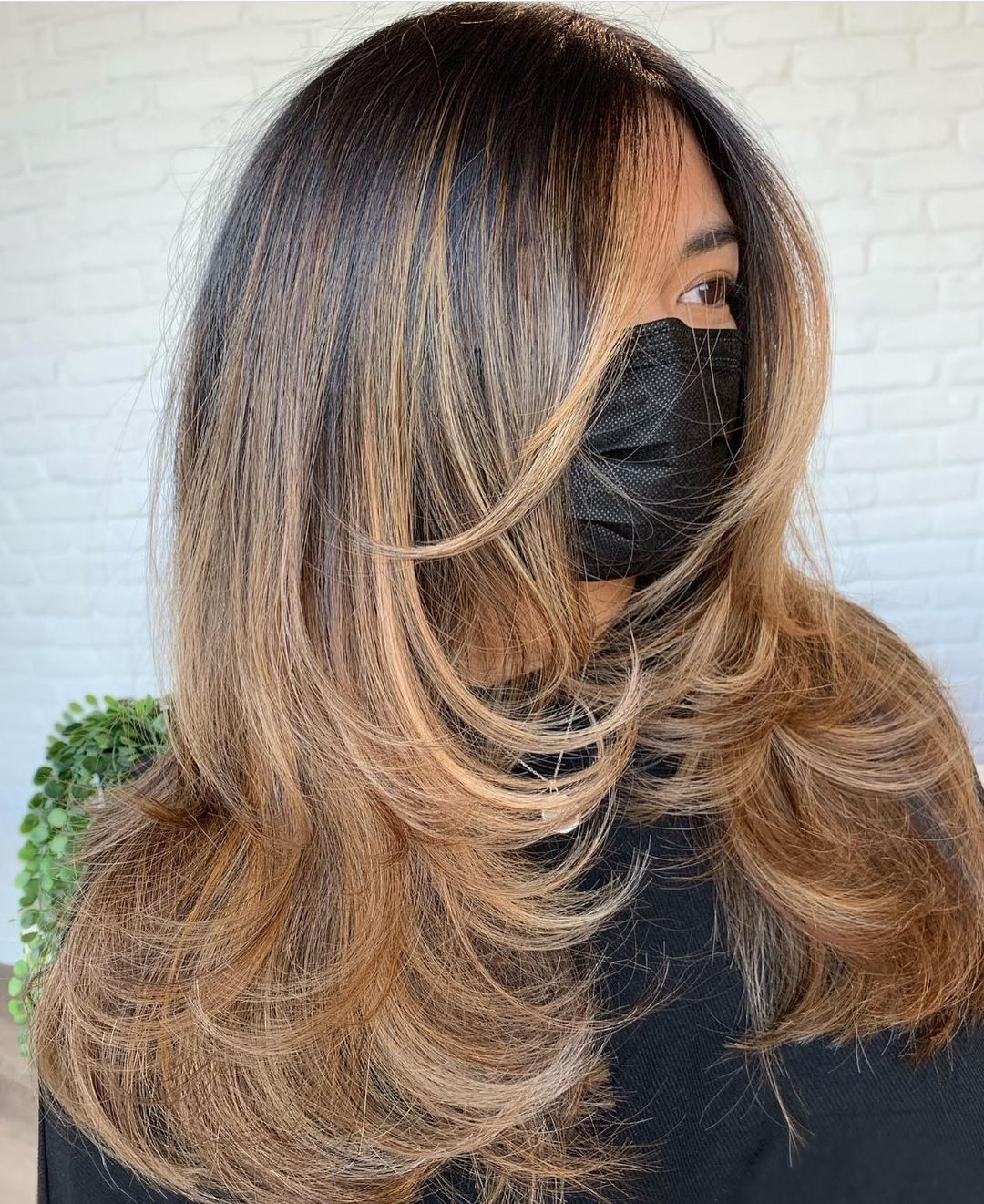 Thick Long Hair with Swoopy Layers