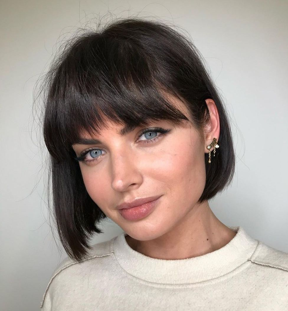 Chic French Bob with Bangs