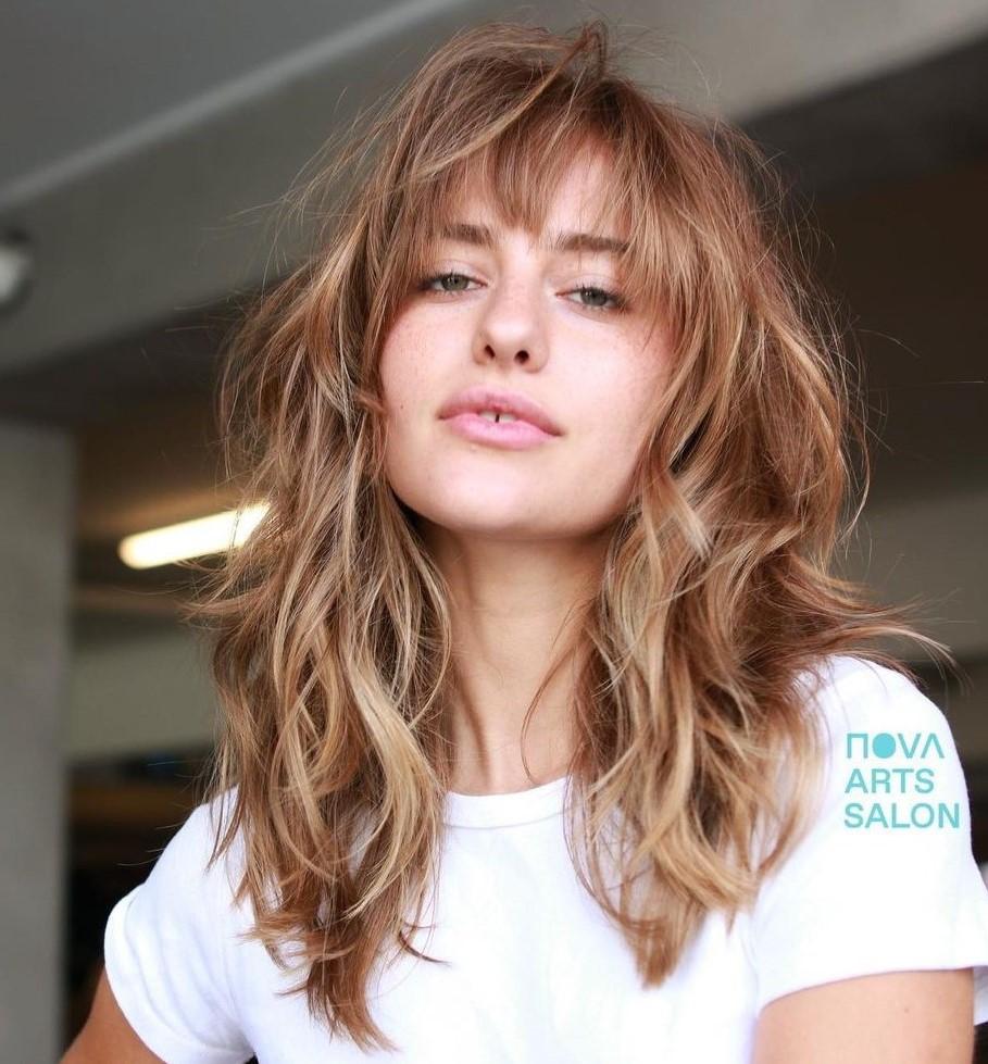 Shag Haircut with Bangs for Long Hair