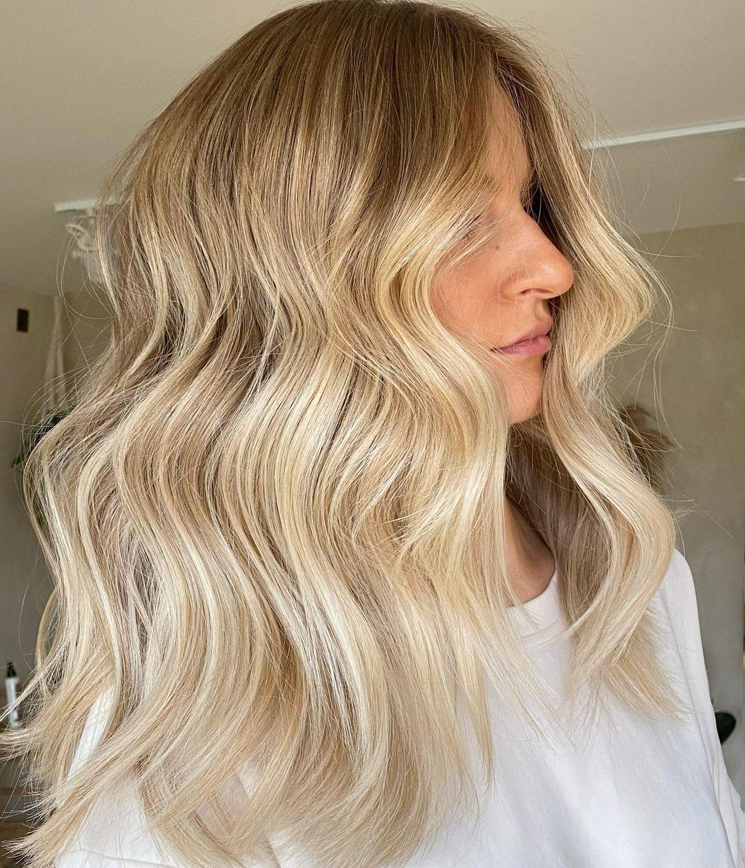 Light Honey Blonde to Platinum Ombre Hair