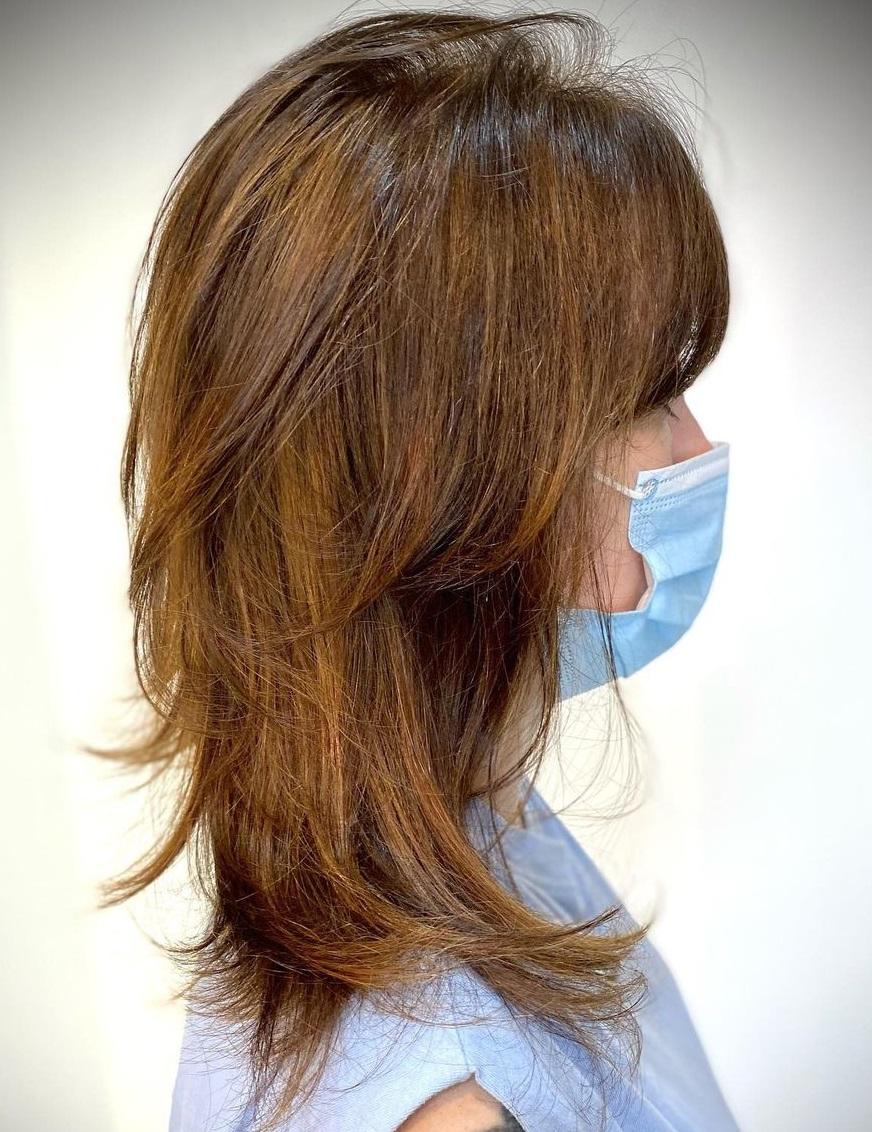 Midi Shag Haircut with Feathered Layers