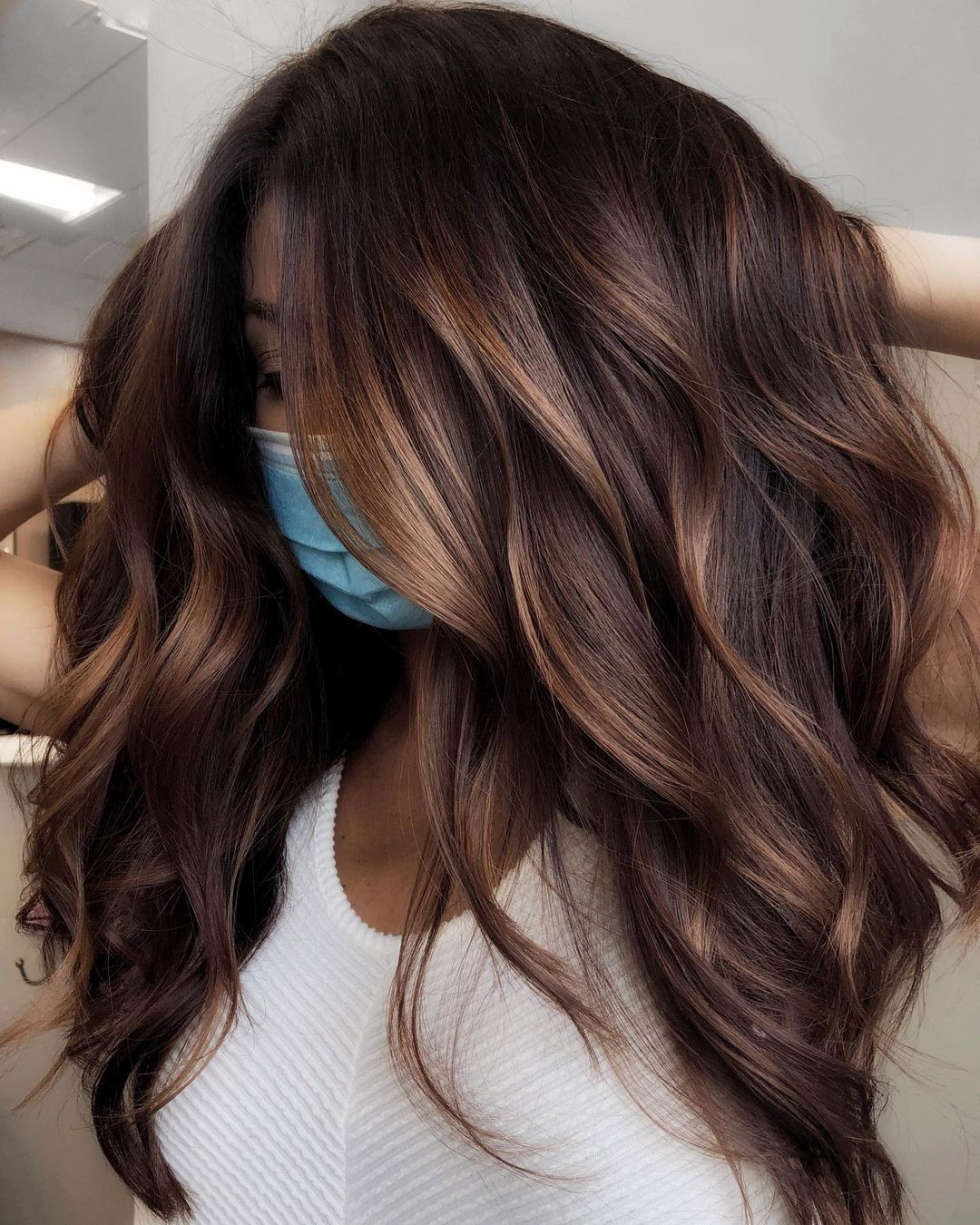 Chocolate Hair with Subtle Highlights