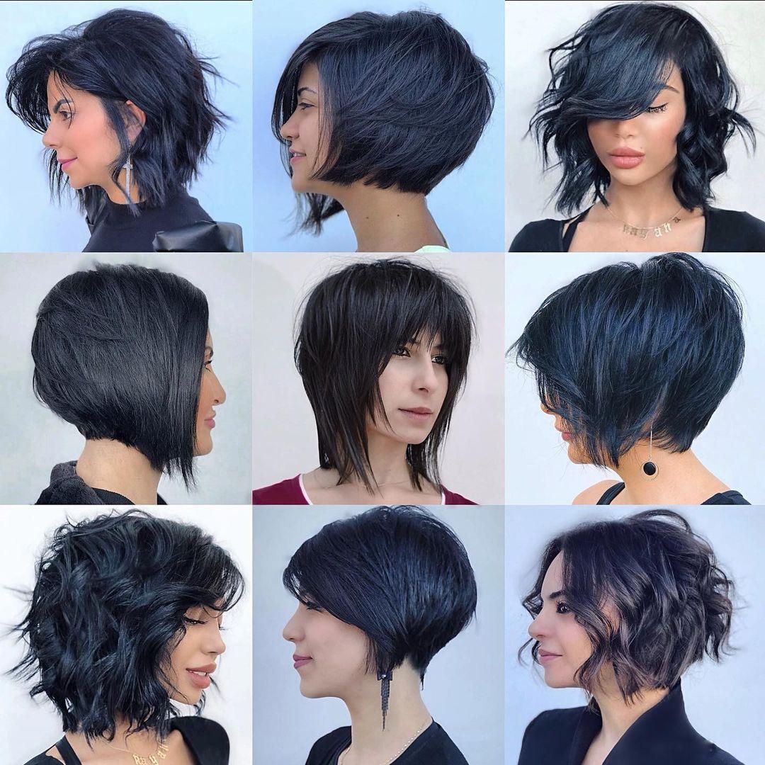 Short Bob Haircuts Hair Length Chart
