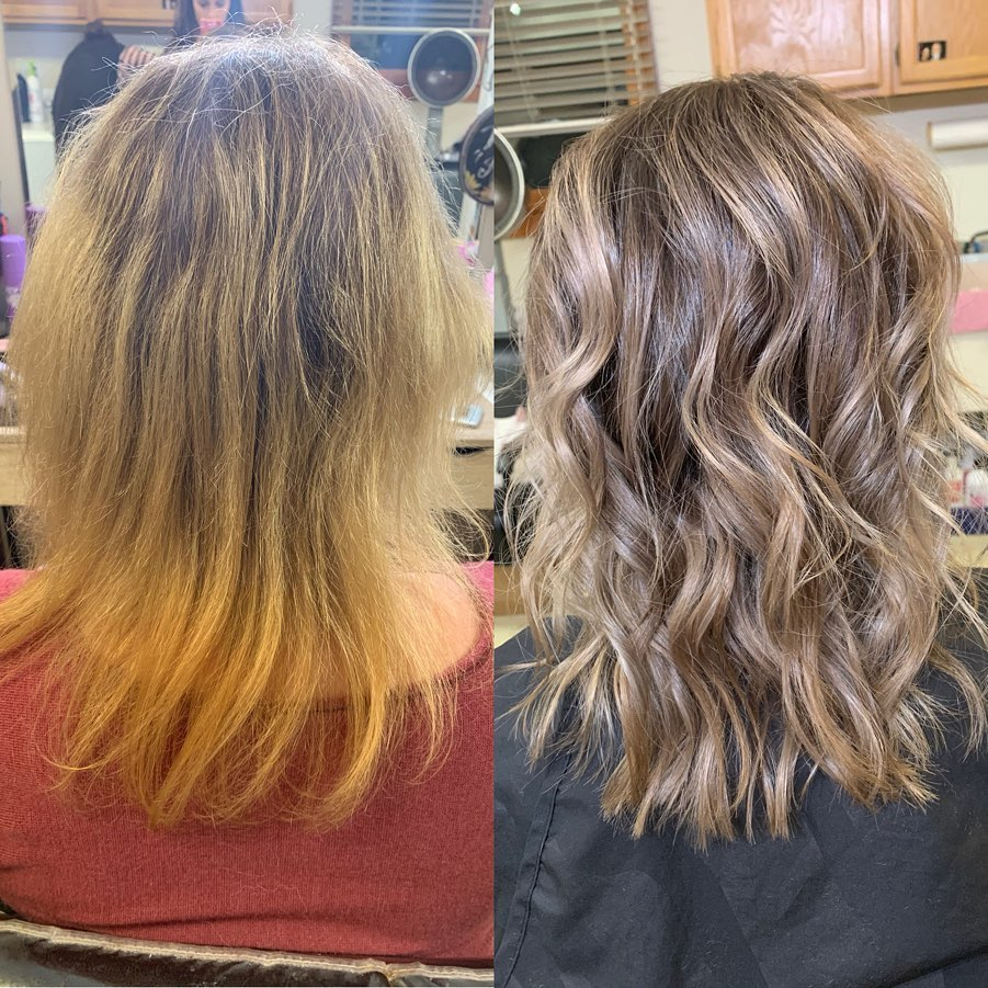 Hard Water Hair At-Salon Coloring