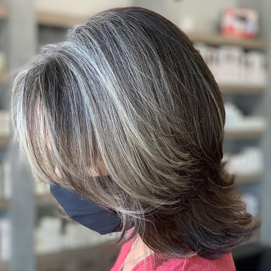 Dark Hair Going Gray