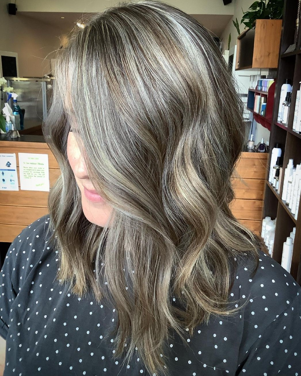 Gray Highlights and Bronde Lowlights