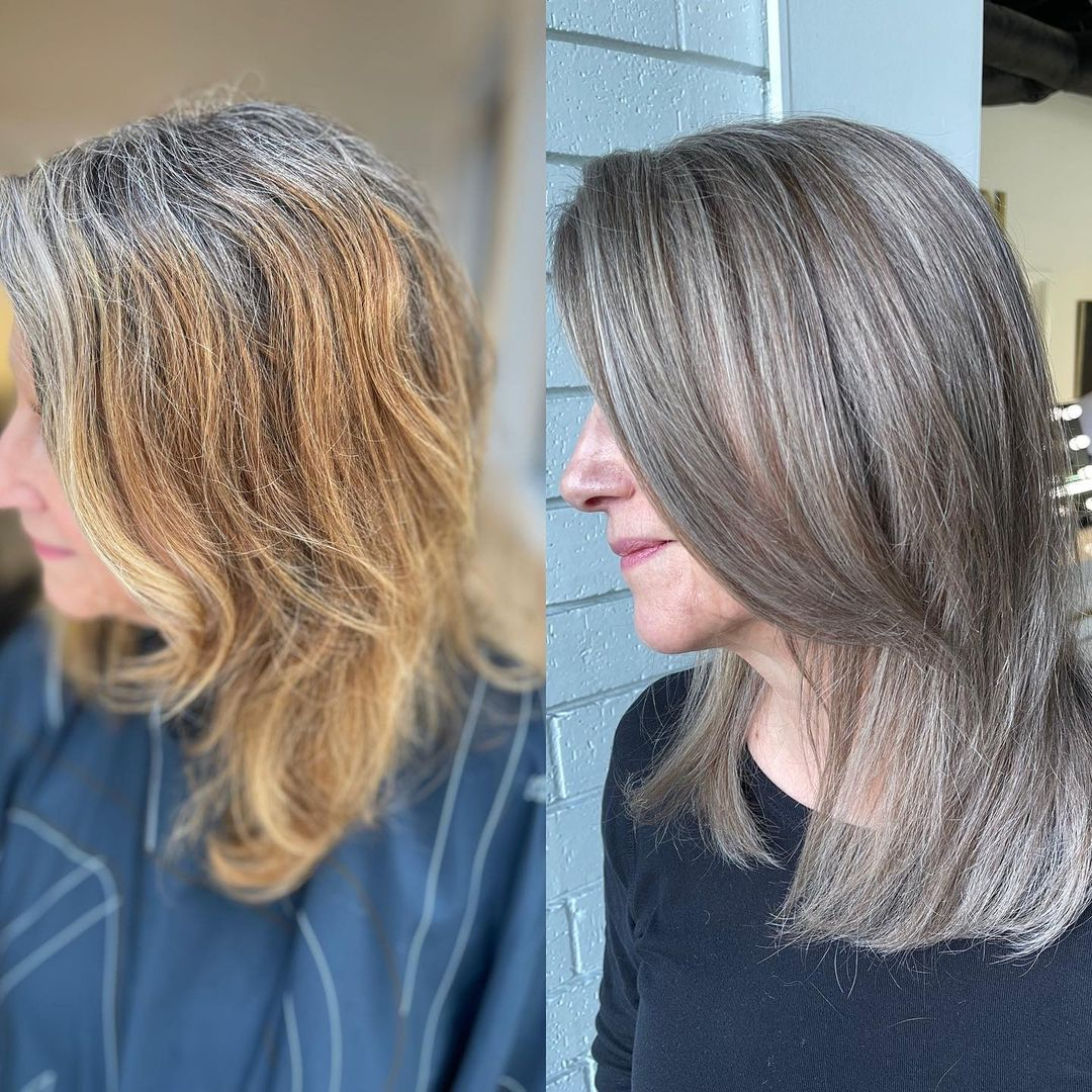 Transitioning to Gray with Balayage