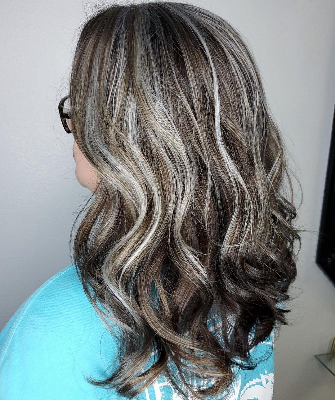 Gray Highlights for Dark Hair