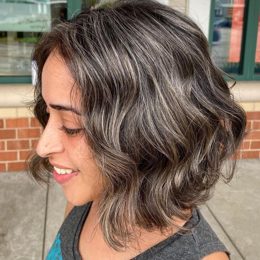 Natural Gray Highlights for Brunette Hair